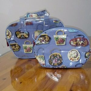 Nick & Nora Bags - Nick&Nora two piece cosmetic bags.